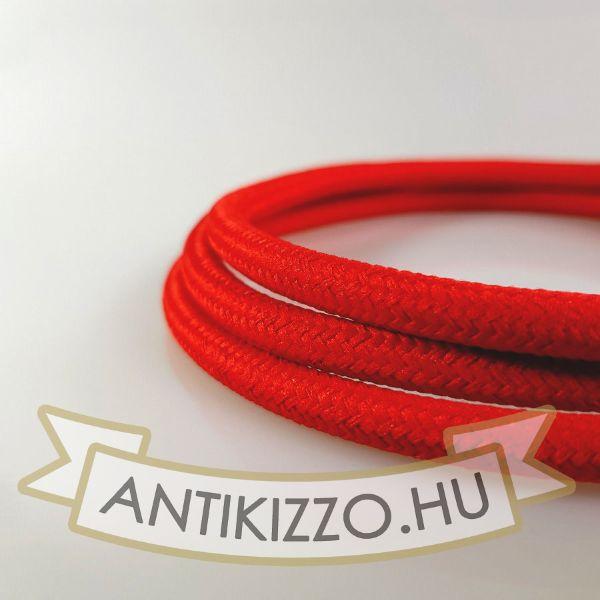 Textil kábel piros - 2x0,75