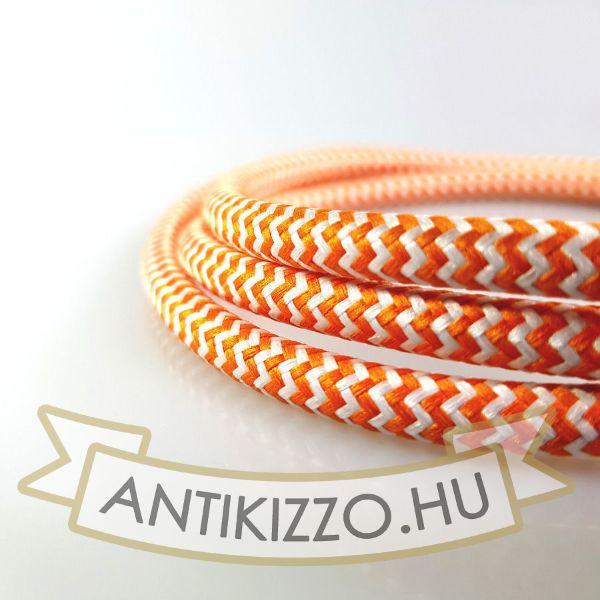 Textilkábel fehér-narancs vasalókábel - 3x0,75