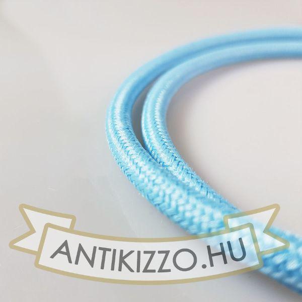Textil kábel égkék 2x0,75