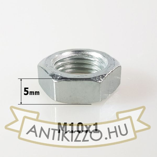 Hexagon anyacsavar M10 - 5mm