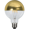 LED izzó E27 G95 arany-tükör fedéssel