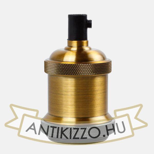 Edison izzó foglalat sárgaréz antik szín - E27