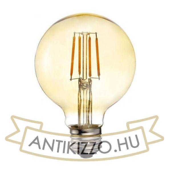 LED filament dekor izzó antikolt - G95 - 4 watt