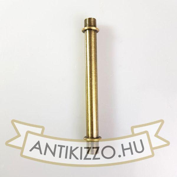 Menetes vegű cső 10cm antik bronz szín