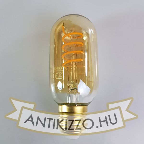 LED filament dekor izzó - T45 Spiral - 4 watt