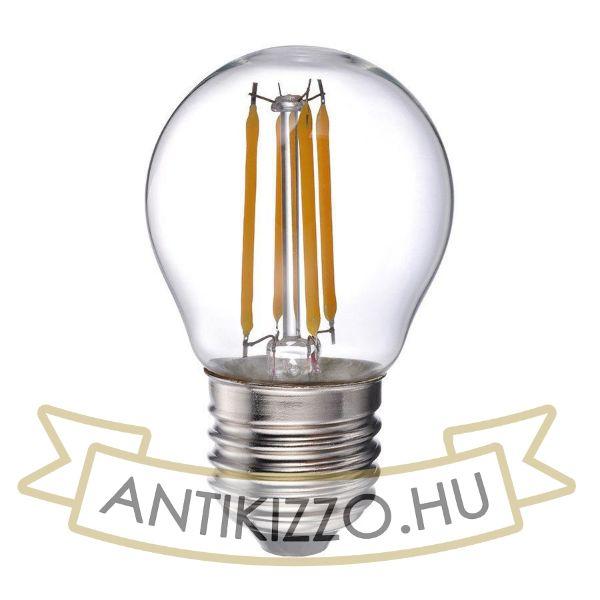 LED filament dekor izzó - G45 - 4 watt - meleg fehér