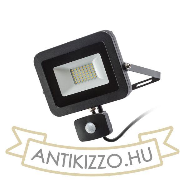 Kép PONTA reflektor érzékelővel fekete  230V LED 30W 120° IP54  3000K