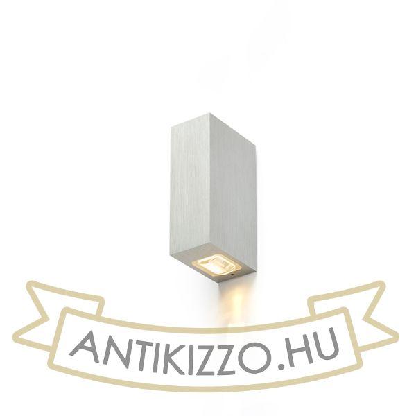 Kép NICK II fali lámpa  szálcsiszolt alumínium 230V LED 2x3W 10° IP54  3000K