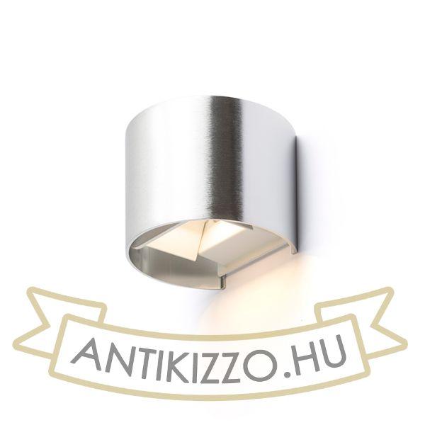 Kép TITO R fali lámpa  szálcsiszolt alumínium 230V LED 6W IP54  3000K