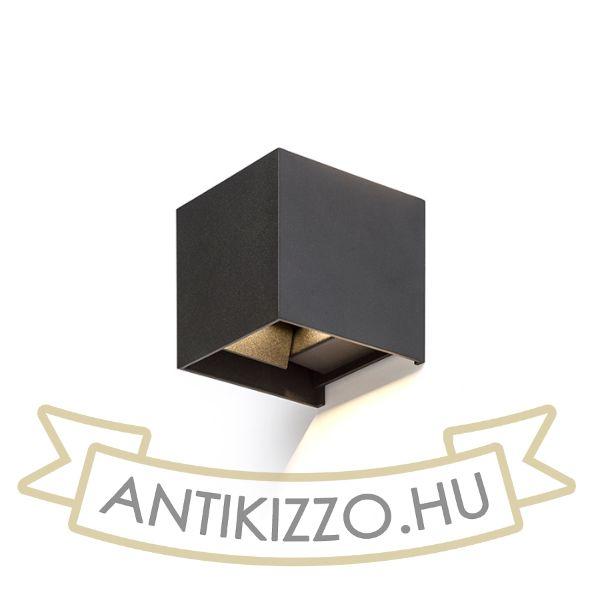 Kép TITO SQ fali lámpa fekete  230V LED 6W IP54  3000K