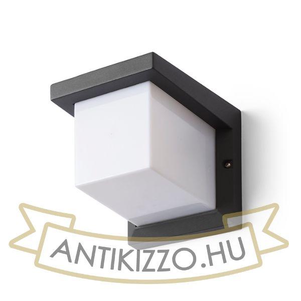 Kép HIDE SQ fali lámpa anrtracitszürke  230V E27 13W IP44