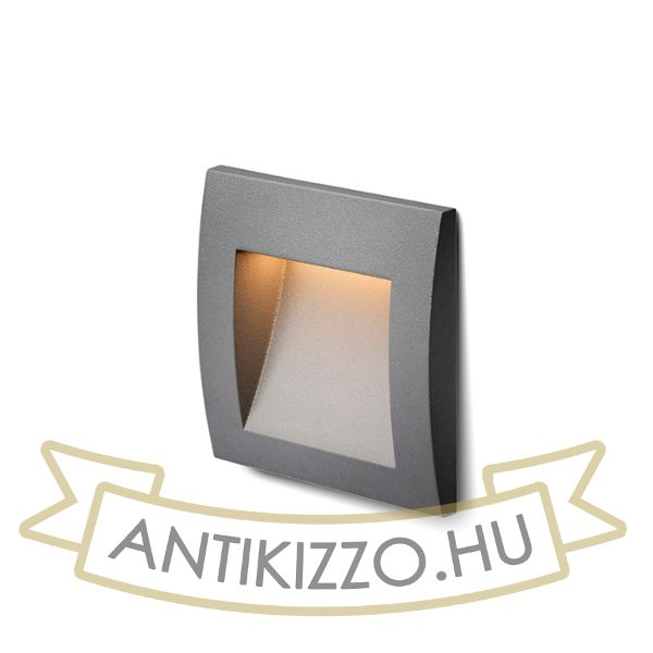 Kép GORDIQ S süllyesztett lámpa anrtracitszürke  230V LED 1.5W IP65  3000K