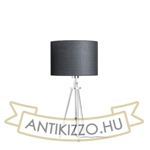Kép GARDETTE asztali lámpa fekete alumínium 230V E27 42W
