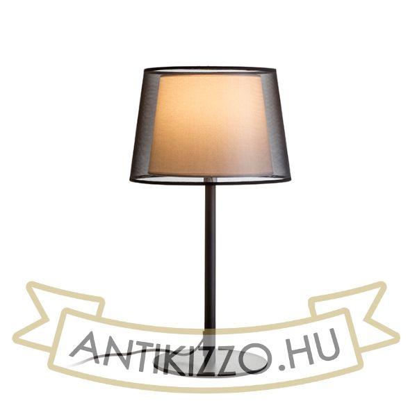 Kép ESPLANADE asztali lámpa fekete/fehér króm 230V E27 42W