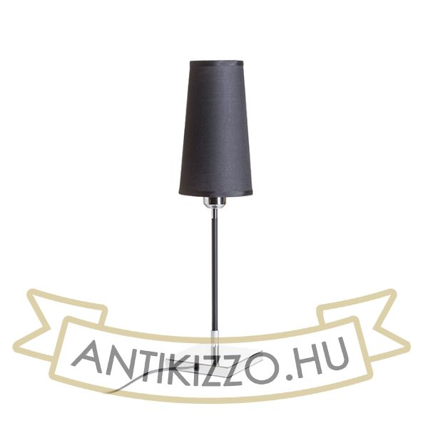 Kép LULU asztali lámpa fekete króm 230V E27 28W