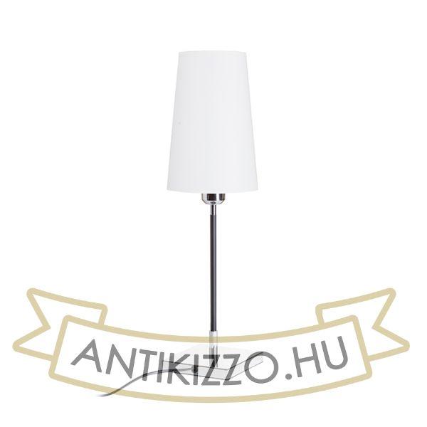 Kép LULU asztali lámpa fehér/fekete króm 230V E27 28W