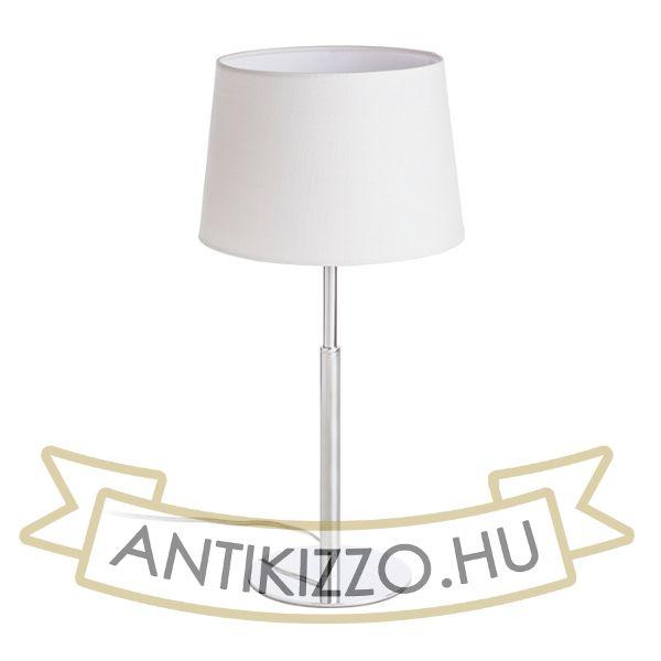 Kép BROADWAY asztali lámpa fehér króm 230V E27 42W