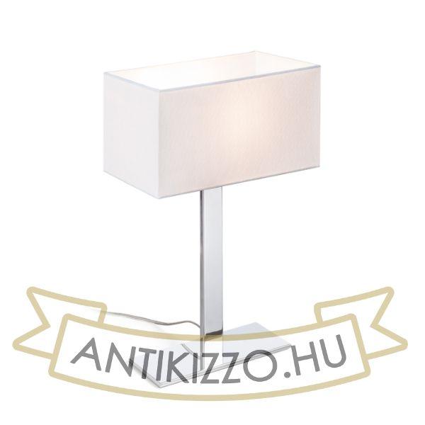 Kép PLAZA M asztali lámpa fehér króm 230V E27 42W