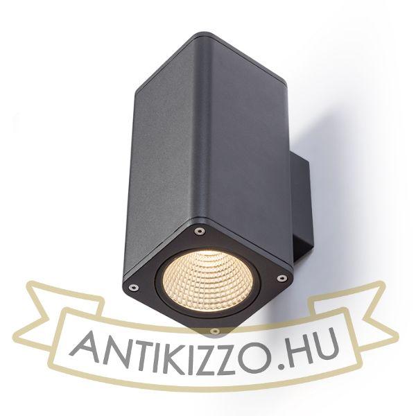 Kép MIZZI SQ II fali lámpa anrtracitszürke  230V LED 2x12W 46° IP54  3000K