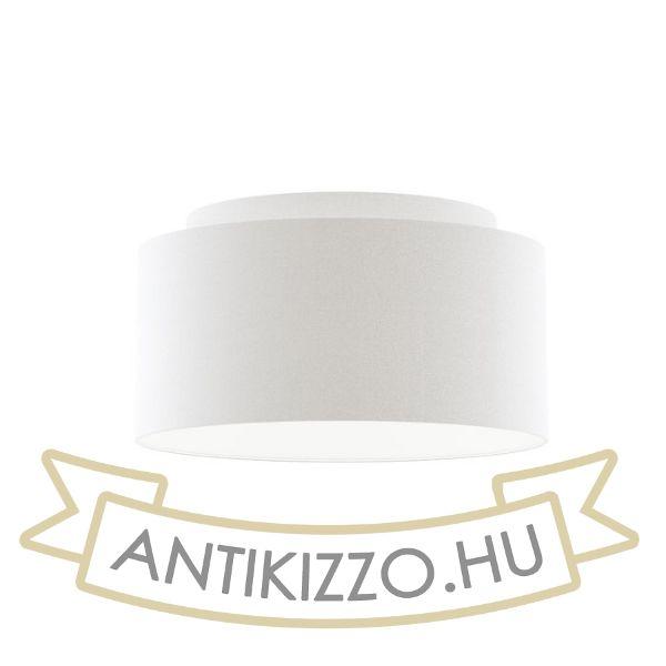 Kép DOUBLE 55/30 lámpabúra  Polycotton fehér/fehér PVC  max. 23W