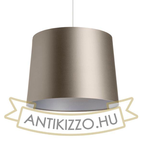 Kép ASPRO 40/30 lámpabúra  Monaco galamb szürke/ezüst PVC  max. 23W