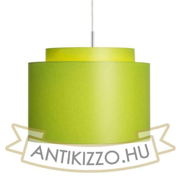 Kép DOUBLE 40/30 lámpabúra  Chintz lime/fehér PVC  max. 23W