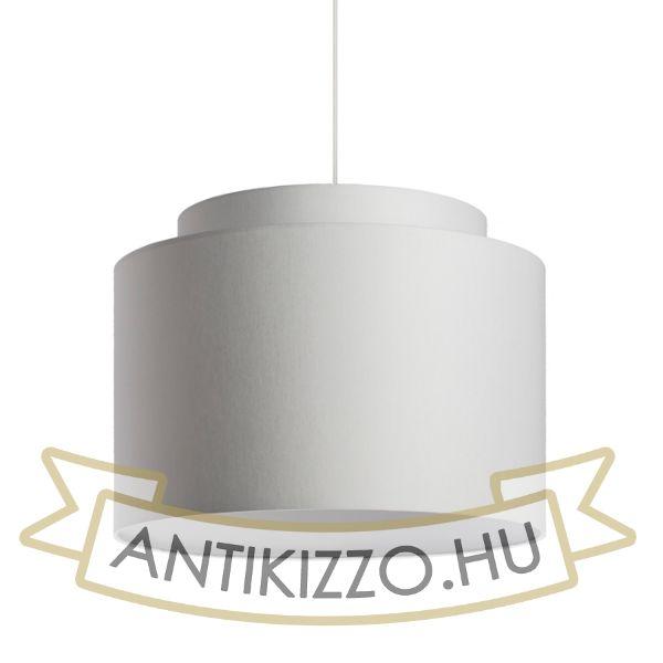 Kép DOUBLE 40/30 lámpabúra  Chintz világosszürke/fehér PVC  max. 23W
