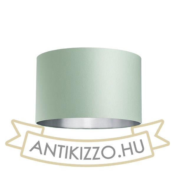 Kép RON 40/25 lámpabúra  Chintz menta/ezüst fólia  max. 23W