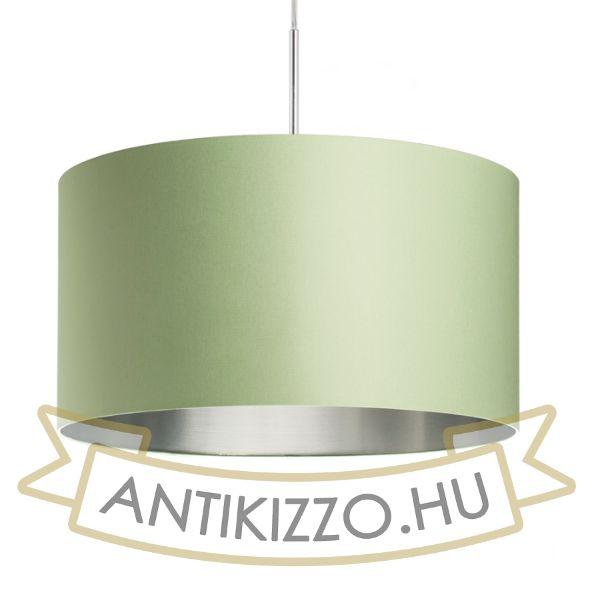 Kép RON 55/30 lámpabúra  Chintz menta/ezüst fólia  max. 23W