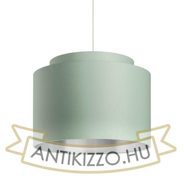 Kép DOUBLE 40/30 lámpabúra  Chintz menta/ezüst fólia  max. 23W