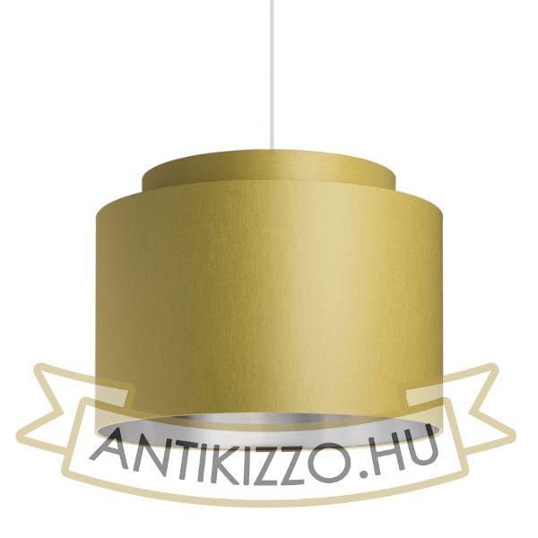 Kép DOUBLE 40/30 lámpabúra  Chintz  oliva/ezüst fólia  max. 23W
