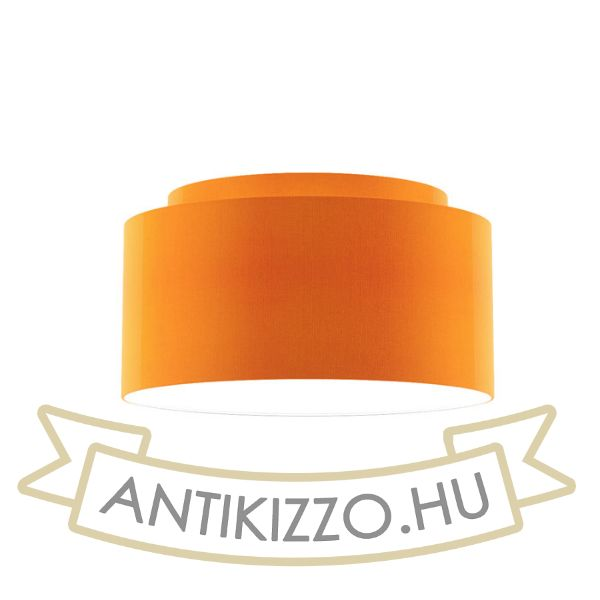 Kép DOUBLE 55/30 lámpabúra  Chintz narancssárga/fehér PVC  max. 23W