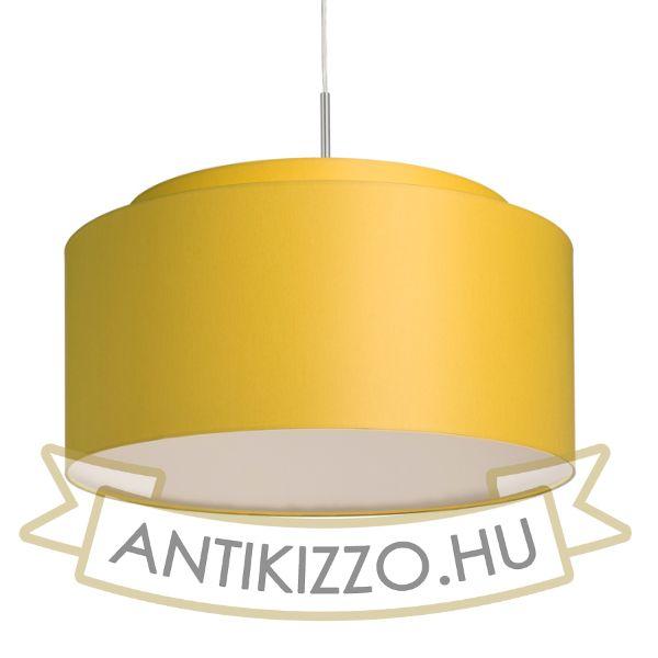 Kép DOUBLE 55/30 lámpabúra  Chintz sárgabarack/fehér PVC  max. 23W