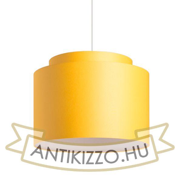 Kép DOUBLE 40/30 lámpabúra  Chintz sárgabarack/fehér PVC  max. 23W