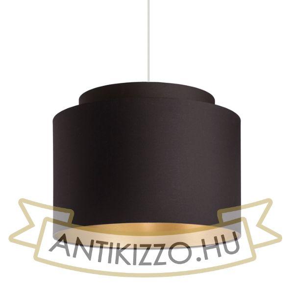 Kép DOUBLE 40/30 lámpabúra  Polycotton fekete/arany fólia  max. 23W