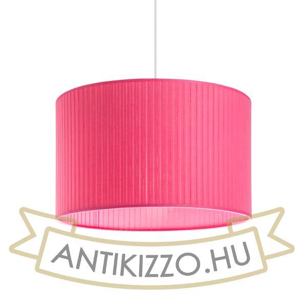 Kép RON 40/25 lámpabúra  Plissé rózsaszín  max. 23W
