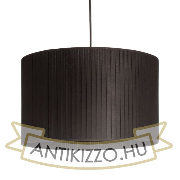 Kép RON 40/25 lámpabúra  Plissé fekete  max. 23W