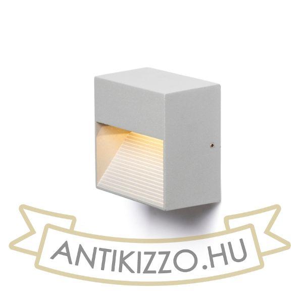 Kép ITAKA fali lámpa ezüstszürke  230V LED 2W IP54  3000K