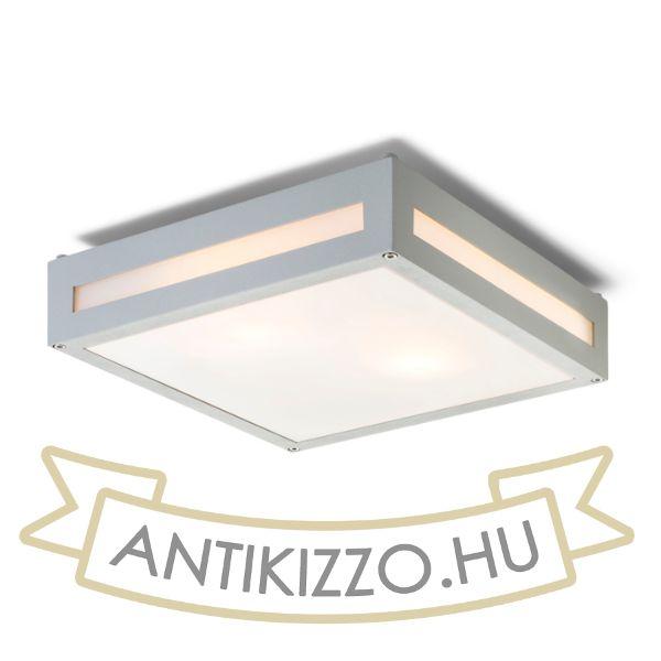 Kép PLAKA mennyezeti lámpa ezüstszürke  230V E27 2x26W IP54