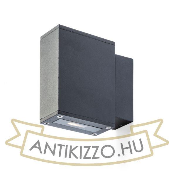 Kép DIXIE 4x12 fali lámpa fekete  230V/700mA LED 2x3W 48° IP54  3000K