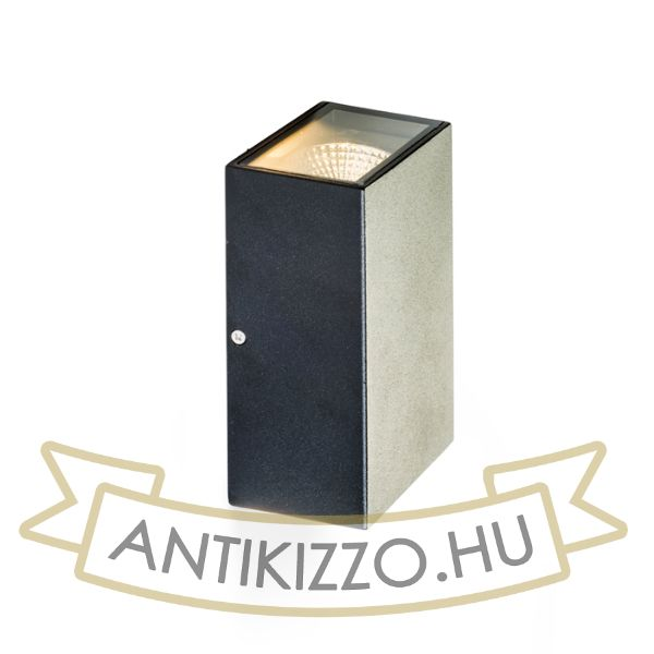 Kép DIXIE 10x16 fali lámpa fekete  230V/350mA LED 2x5W 84° IP54  3000K