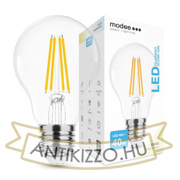 Modee Smart Lighting LED Filament Globe A60 4W E27 360° 4000K (470 lumen)