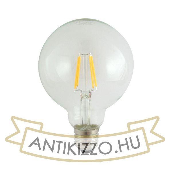 LED filament dekor izzó - G95 - 6 watt E27 720LM