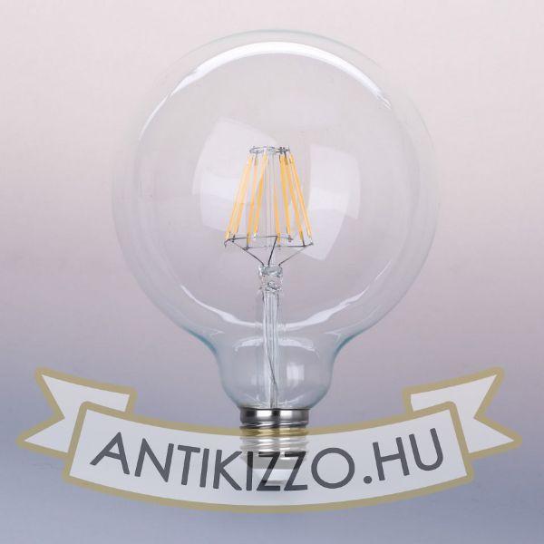 LED filament dekor izzó - G95 - 8 watt E27 960LM