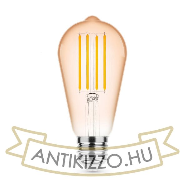 Modee Lighting LED Filament Amber ST58 4W E27 320° 1800K (360 lumen)